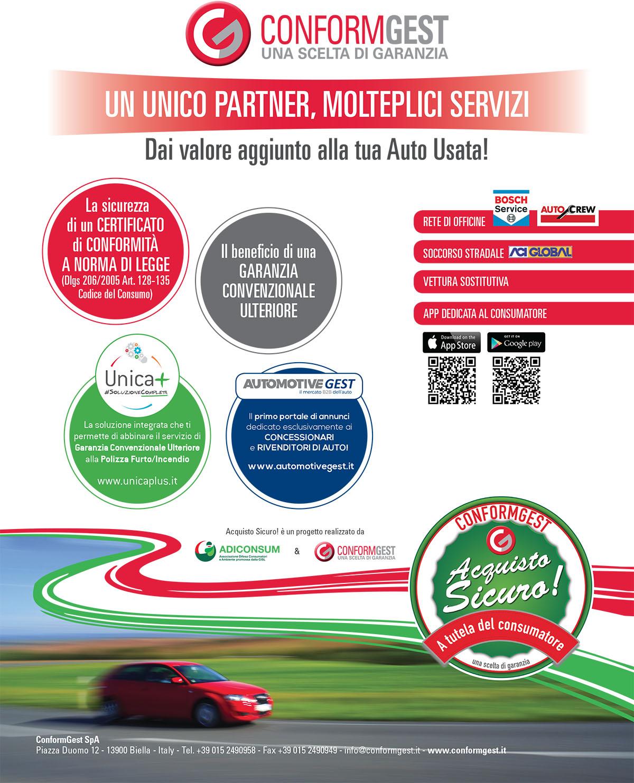 ConformGest Un unico partner, molteplici servizi - ConformGest su QUATTRORUOTE di Marzo